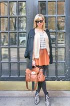 beige Joie blazer - eggshell Zara shirt - Mulberry bag - black Tibi heels