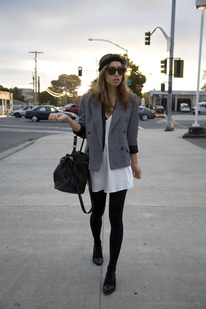 blazer - top - tights - shoes - accessories