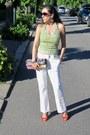 White-h-m-jeans-purple-handmade-bag-carrot-orange-sergio-rossi-heels