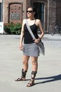 Off-white-handmade-bag-heather-gray-zara-skirt-black-cotton-on-top