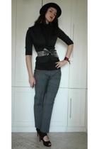 Accessorize hat - Ol jacket - Afrodit top - Zara pants - AmiClubWear shoes