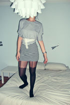 black Topshop tights