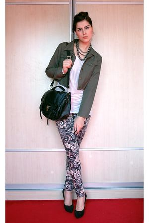 black Zara shoes - pink Zara leggings - black Queens Wardrobe accessories