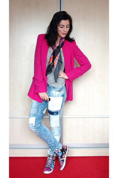 Pink Forever New Blazer Blue