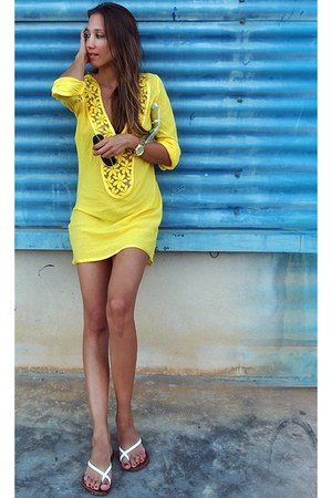 yellow cotton TomTom dress