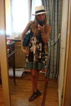 hoss entropia dress - panama model hat - H&M shoes - Fendi purse
