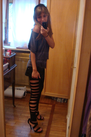 H&M leggings - H&M blouse - danielle shoes - Gucci purse - H&M accessories