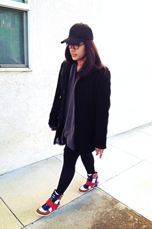 coat - sweater - Bamboo sneakers