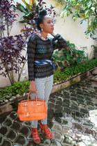 Diane Von Furstenberg tie - Hermes bag - Anmuni pants - Soft sandals
