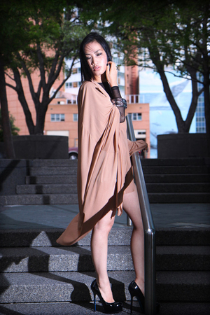 aa shirt - MMM dress - YSL shoes