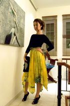 Zara top - vintage skirt - Kurt Geiger shoes - Zara