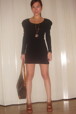 Dorothy Perkins dress - Gift from a Friend necklace - Louis Vuitton purse - popt