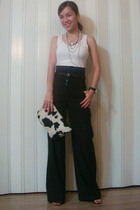 Gap top - Mango pants - Zara shoes - bought from Singapore necklace - bought fro