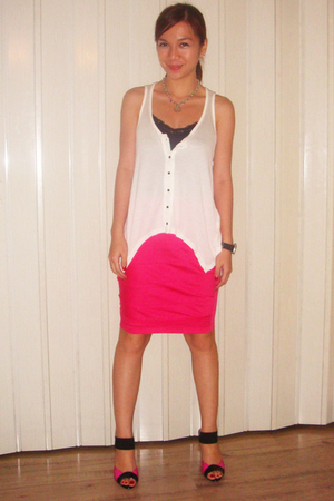 Topshop top - Mango intimate - I forgot skirt - WADE shoes - Guess accessories -
