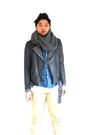 Gray-h-m-jacket-blue-acne-shirt-white-american-apparel-t-shirt-beige-acne-