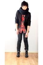 H&M blazer - Filippa K shirt - april 77 jeans - Rizzo shoes - H&M scarf
