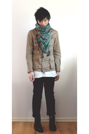 Zara jacket - Henrik Vibskov scarf - Filippa K t-shirt - H&amp;M pants - Rizzo shoes