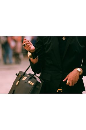 Hermes purse - Hermes belt - Chanel necklace - accessories