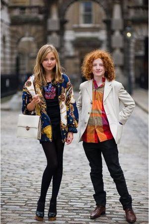 Hermes jacket - Walter Steiger shoes - accessories - t-shirt - falke tights - Am