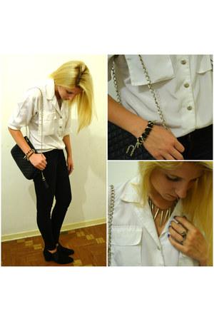 black suede vintage boots - black jeggings Zara jeans