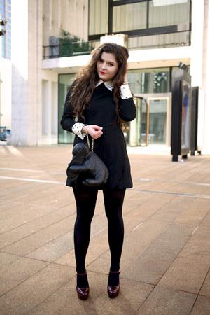 black wool Chicwish dress
