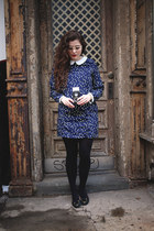 blue PERSUNMALL dress - eggshell pearl Warby Parker glasses