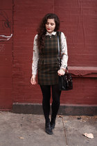 army green wool In God We Trust NYC dress