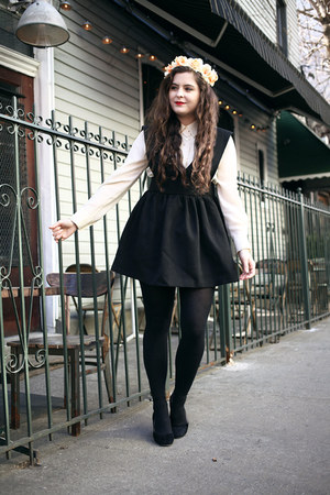 black pinafore MIAMASVIN dress