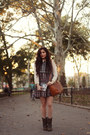 Army-green-suede-cat-footwear-boots-crimson-plaid-missguided-dress