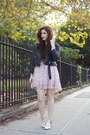Pink-floral-others-follow-dress-black-motorcycle-missguided-jacket
