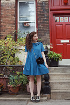 black cat Nila Anthony bag - blue denim PepaLoves dress