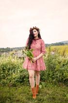 bubble gum paisley Cloak and Dagger dress
