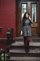 heather gray cotton In God We Trust NYC dress