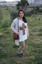 DIY shirt - Mustang shoes - c&a leggings - vintage bag - vintage accessories