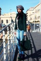Zara jeans - navy Tata shoes - heather gray Luana Ferracuti hat