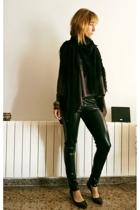 Zara shirt - BLANCO leggings - BLANCO scarf