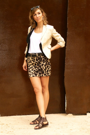Mango blazer - HyM skirt - Pepe Jeans belt
