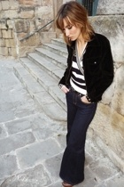 Pepe Jeans top - Zara jeans - Mango belt - jacket - Igualados shoes