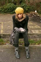 HyM hat - Zara coat - Pepe Jeans accessories - Moschino scarf - Zara boots
