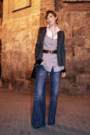 HyM blazer - HyM jeans - MNG belt