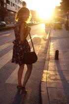 Pull dress - Zara shoes - African artisanal purse