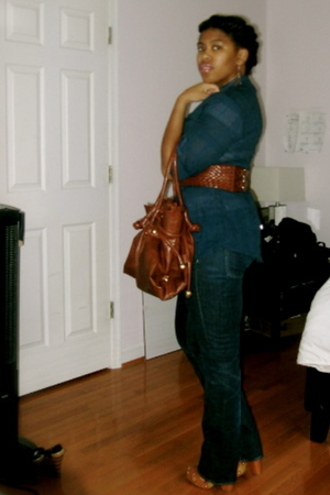 Vince Camuto shoes - H&M jeans - forever 21 belt - forever 21 purse