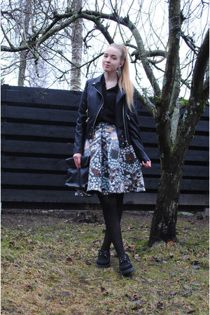 black creepers Underground shoes - black leather Saints & Mortals jacket