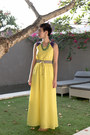 Yellow-maxi-dress-asos-dress-chartreuse-lotus-pod-necklace