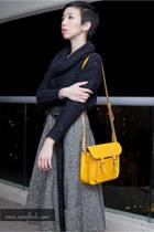 heather gray vintage 50s Lullie vintage skirt - black asos sweater