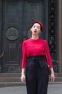 Black-collectif-clothing-pants-ruby-red-vintage-top