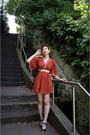 Burnt-orange-vintage-dress