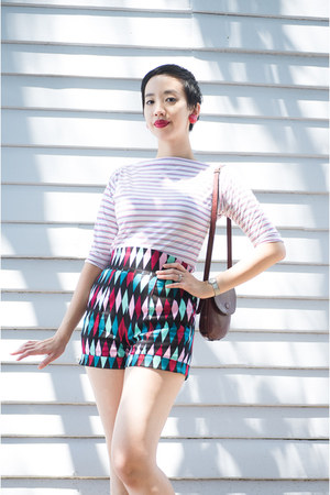 red PinupGirl Clothing shorts - white The Original Bad Girl top