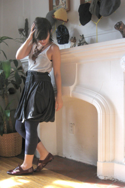 top - skirt - shoes