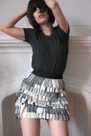 gray heather grey American Apparel t-shirt - gray norwegian wood skirt